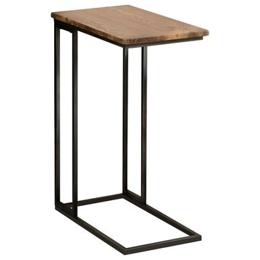 Pacific Landing C Table with 2-USB Ports in Antiqued Brown and Gunmetal Grey, , large