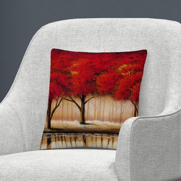Timberlake Rio 'Parade of Red Trees II' 16 x 16 Decorative Throw Pillow, , large