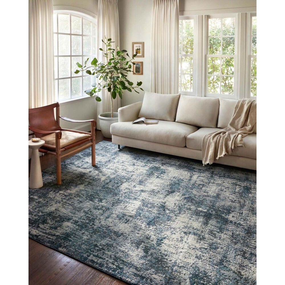 """Loloi II Austen 3'11"""" x 5'7"""" Natural and Ocean Area Rug, , large"""
