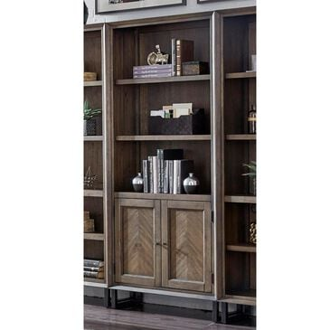 Riva Ridge Harper Point Door Bookcase in Fossil, , large