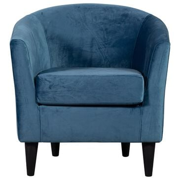 Overman International Corp Chantel Accent Chair in Chantel Teal Velvet, , large