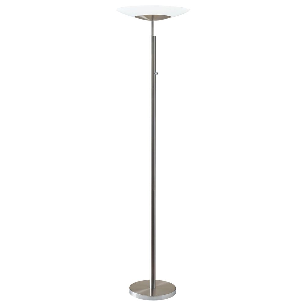 Adesso Stellar LED Torchiere in Brushed Steel, , large