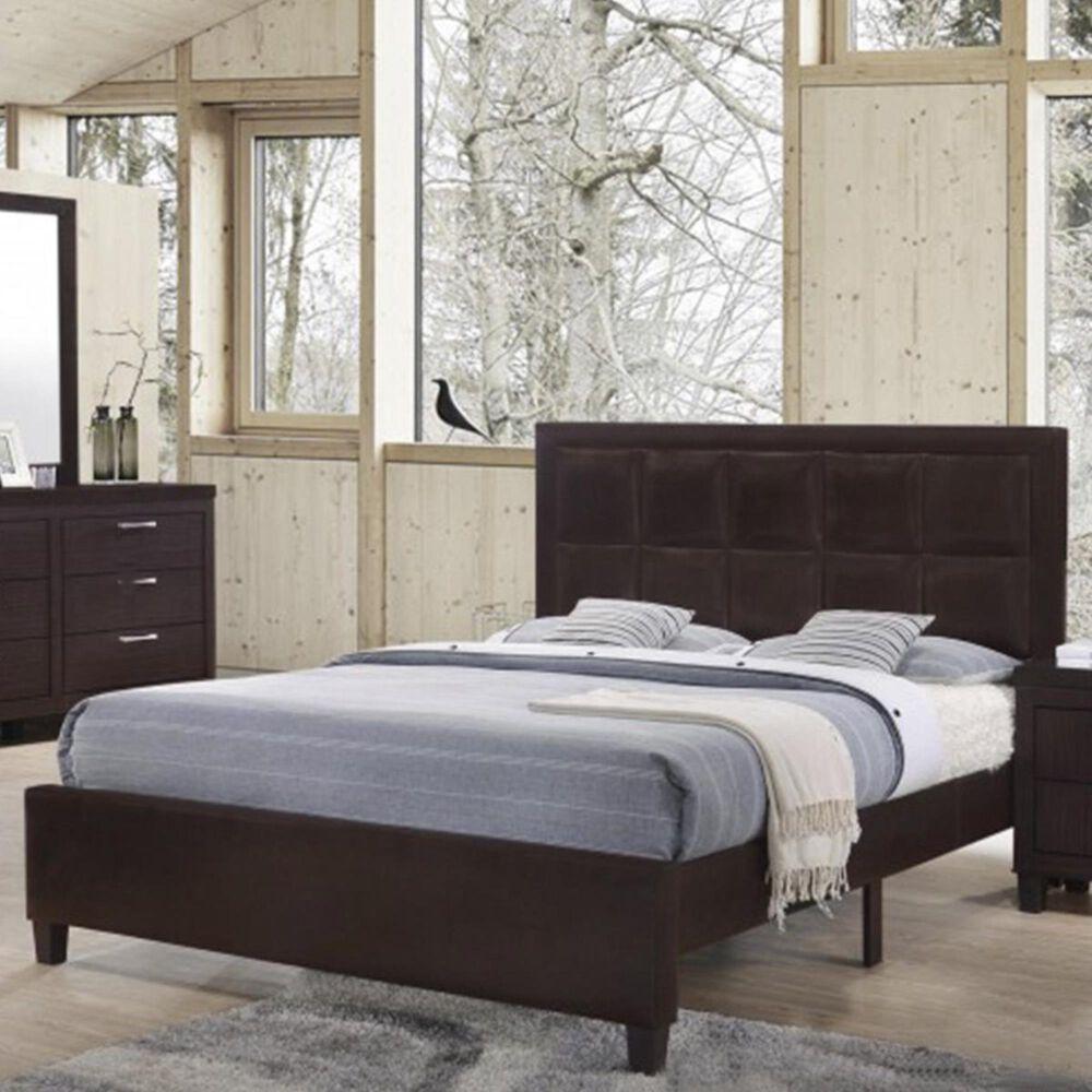 Titanic Furniture Bedroom Full Bed in Walnut, , large