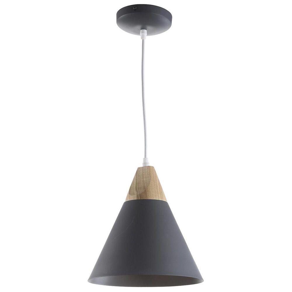 Safavieh Cila Pendant in Dark Grey/Wood, , large