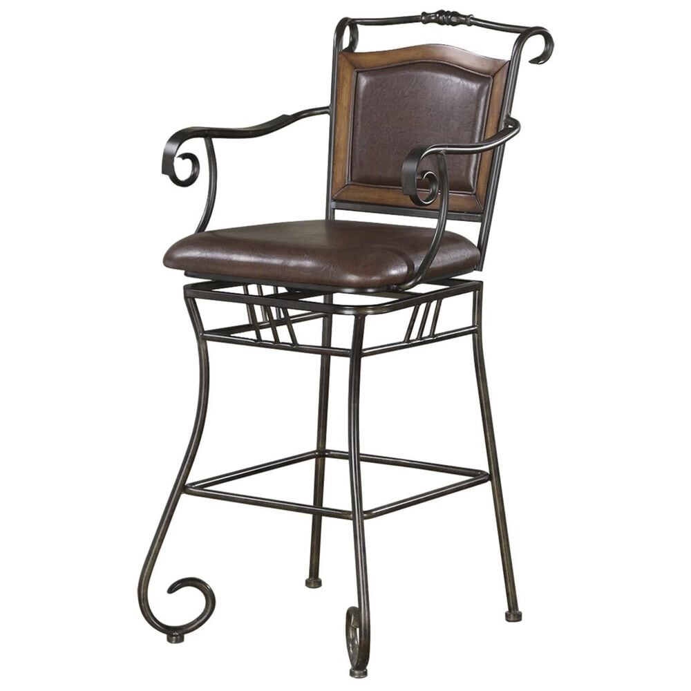 """Pacific Landing 29"""" Metal Bar Stool with Arms, , large"""