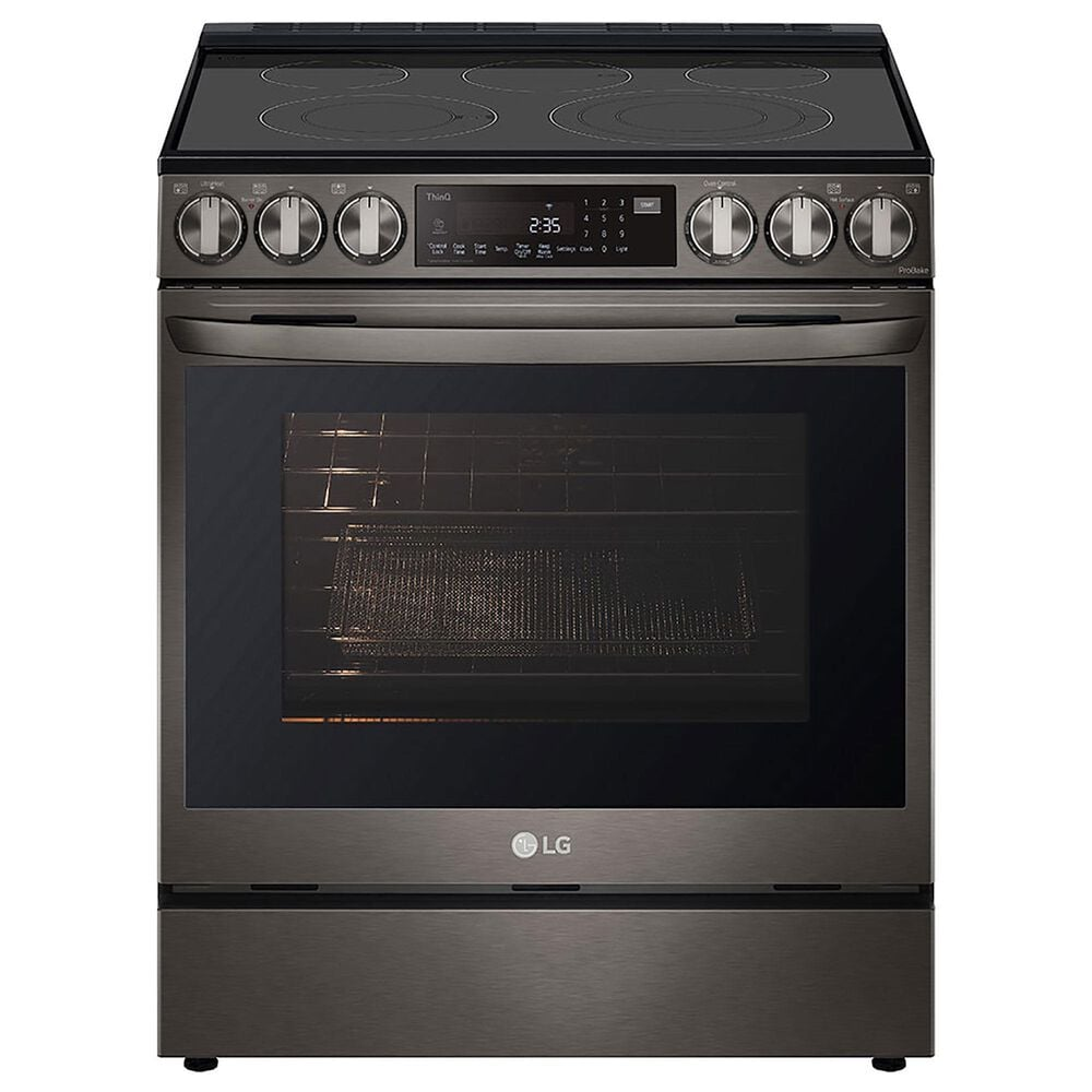 LG 6.3 Cu. Ft. Smart Electric Slide-In Range with Air Fry in Black Stainless Steel, , large