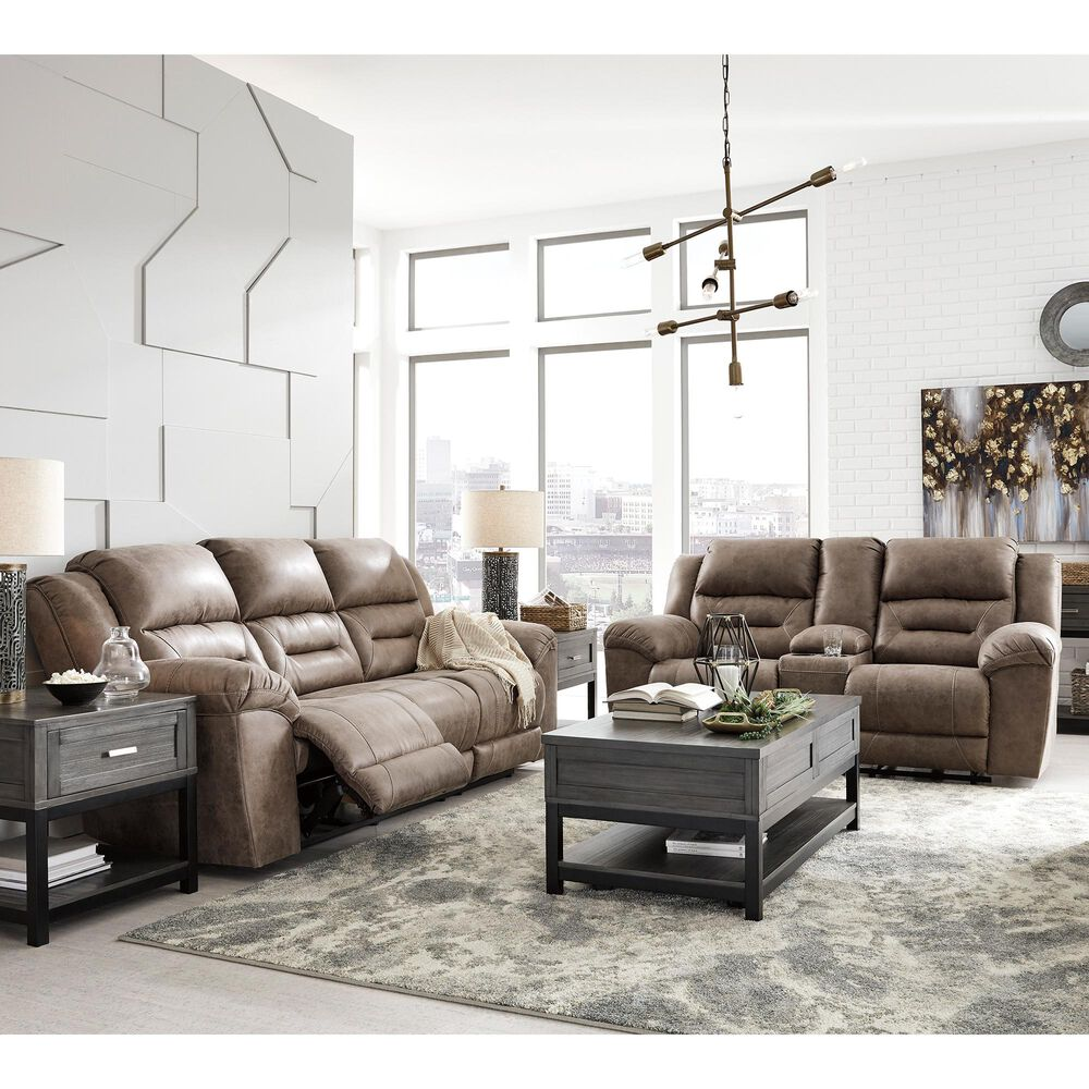 Signature Design by Ashley Stoneland Reclining Sofa in Fossil, , large