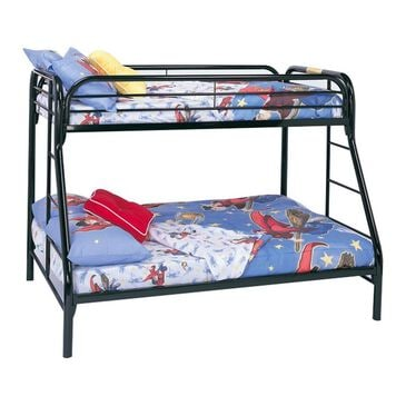 Monarch Specialties Black Metal Twin / Full Bunk Bed Only, , large