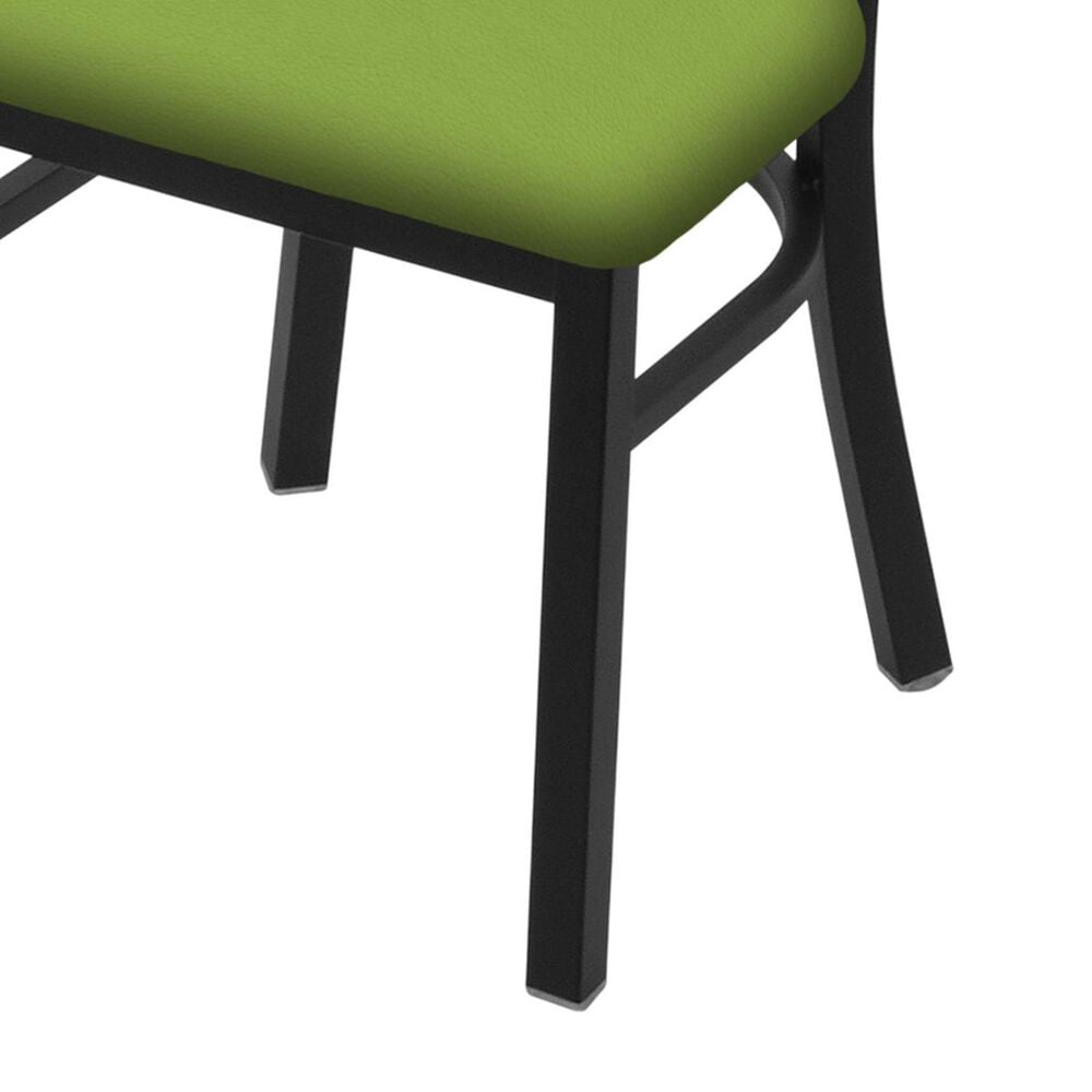 """Holland Bar Stool 620 Catalina 18"""" Chair with Black Wrinkle and Canter Kiwi Green Seat, , large"""
