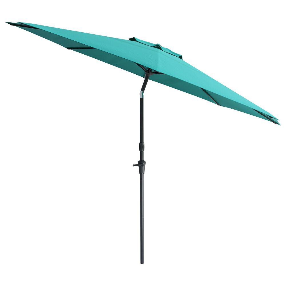 CorLiving 10' UV & Wind Resistant Patio Umbrella in Turquoise Blue, , large