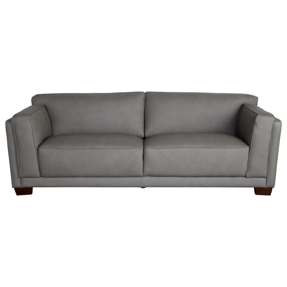 Back Nine Leather Nubuck Sofa in Slate Grey Leather, , large