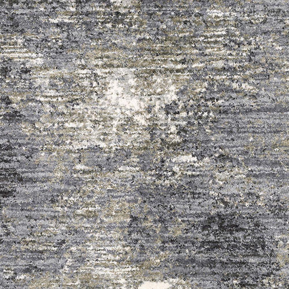"Oriental Weavers Aspen Shag Distressed 2060W 9'10"" x 12'10"" Gray Area Rug, , large"