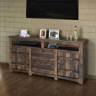 "Fallridge Mezcal 70"" TV Stand in Distressed Brown Stain, , large"
