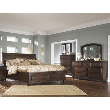 Millennium Porter 4-Piece Queen Sleigh Bedroom Set in Burnished Brown, , large