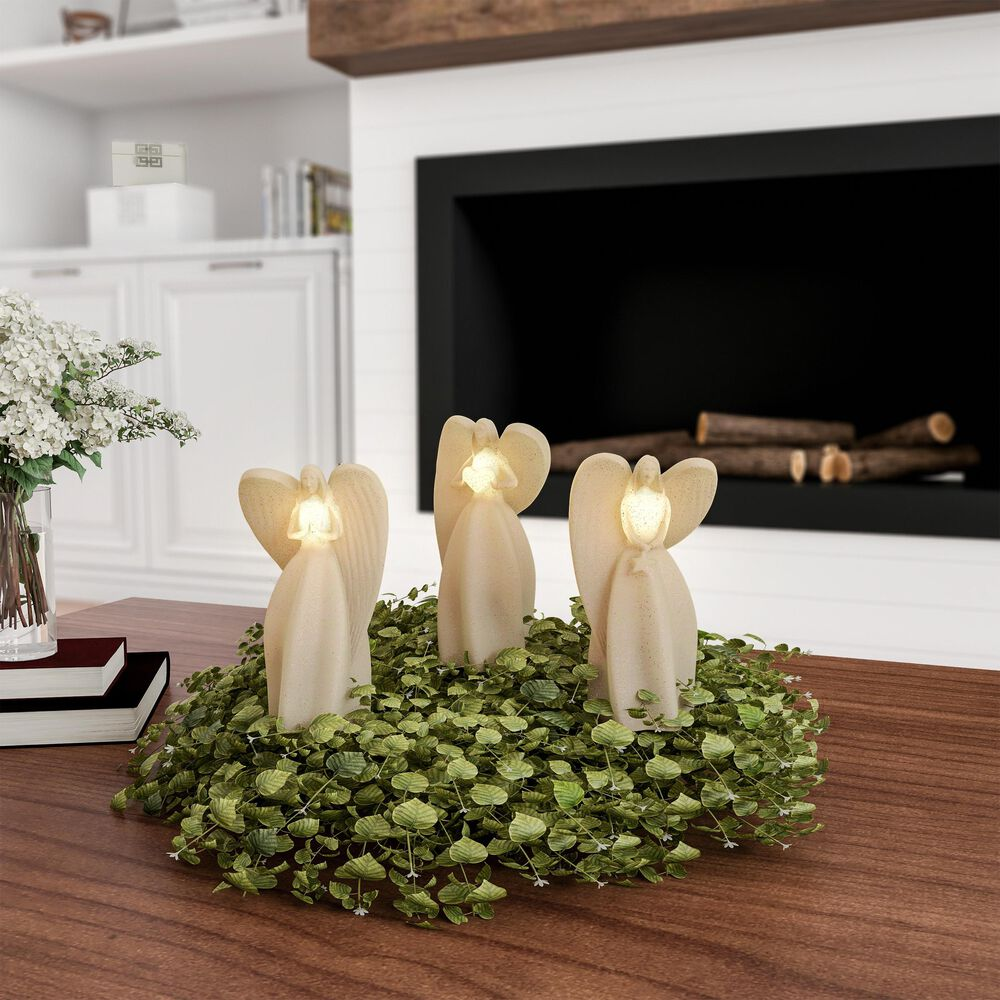 Timberlake Lavish Home 3 Glitter Angel LED Candles in Vanilla, , large