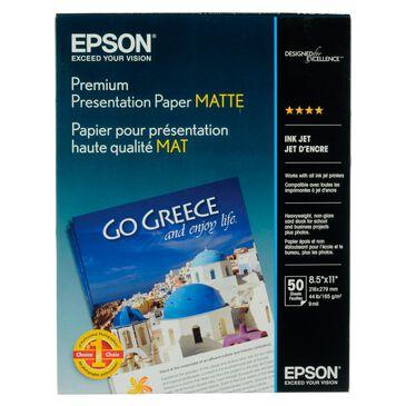 "Epson Premium Presentation Paper Matte (8.5 x 11"", 50 Sheets) , , large"