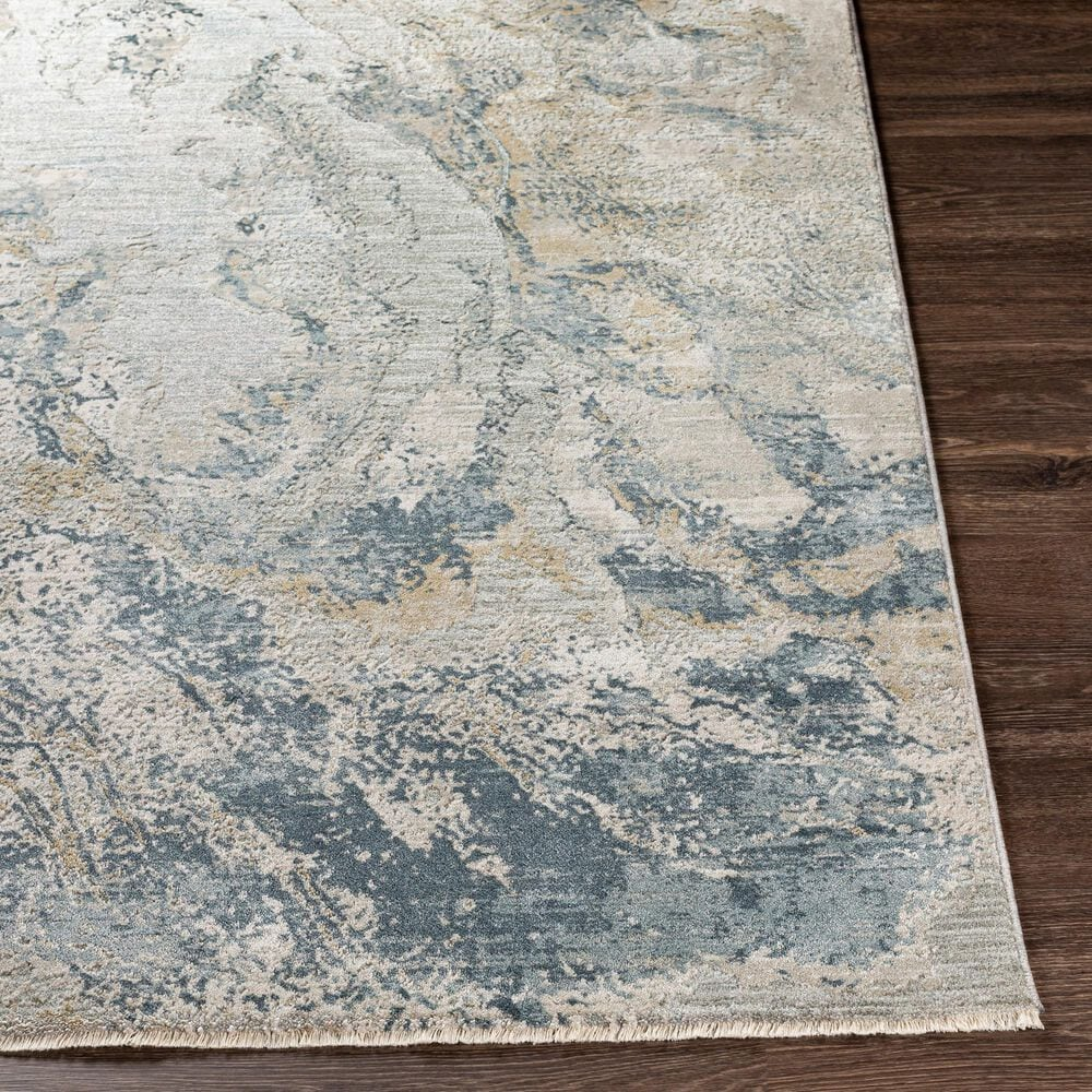 "Surya Brunswick 9' x 12'2"" Sage, Gray, White and Blue Area Rug, , large"
