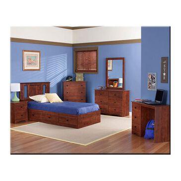 Lemoore 6 Piece Twin Panel Bedroom Set in Cinnamon Fruitwood, , large