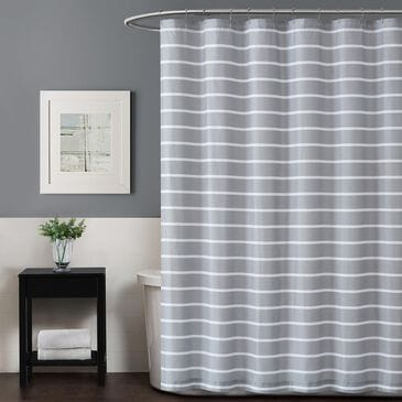 Pem America Truly Soft Maddow Shower Curtain in Grey, , large