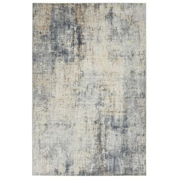 "Nourison Rustic Textures RUS01 2'2"" x 7'6"" Grey and Beige Runner, , large"