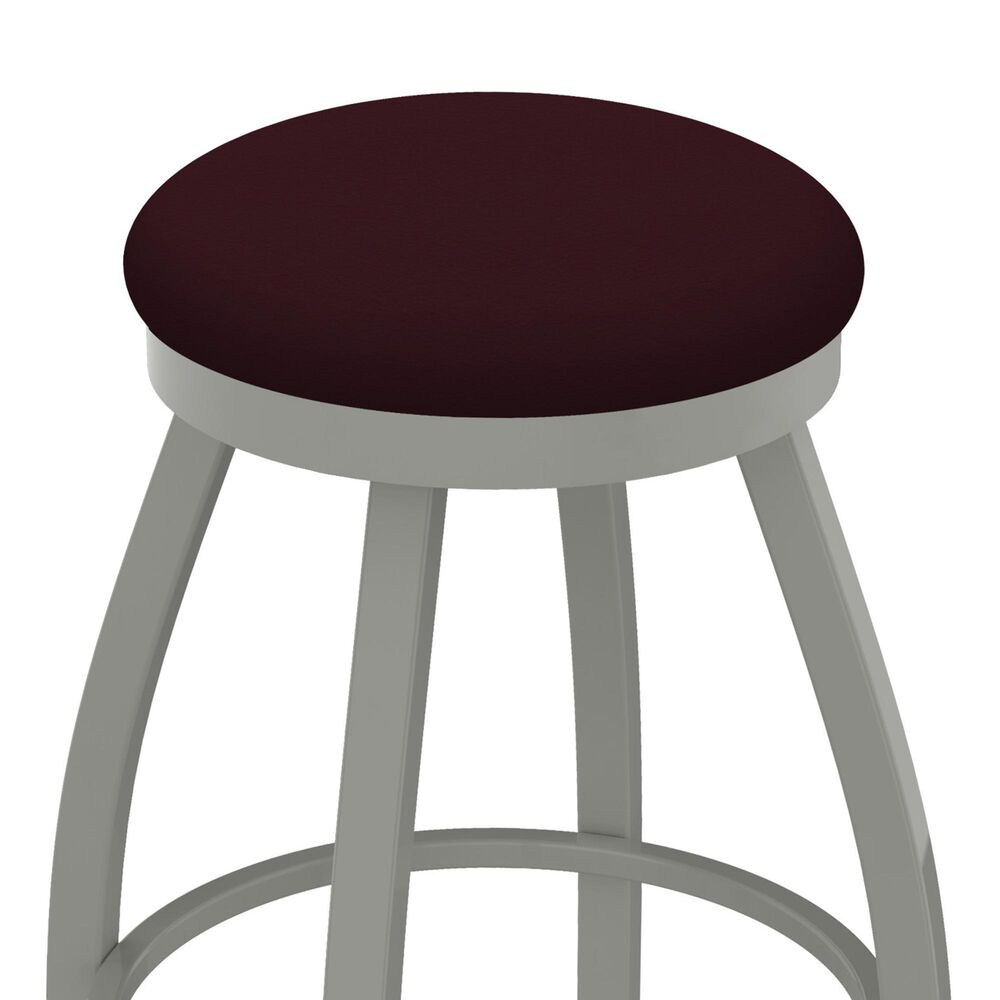 """Holland Bar Stool 802 Misha 25"""" Swivel Counter Stool with Anodized Nickel and Canter Bordeaux Seat, , large"""