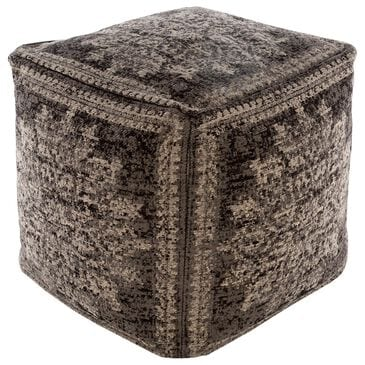 Surya Inc Lendon Pouf in Gray/Black, , large