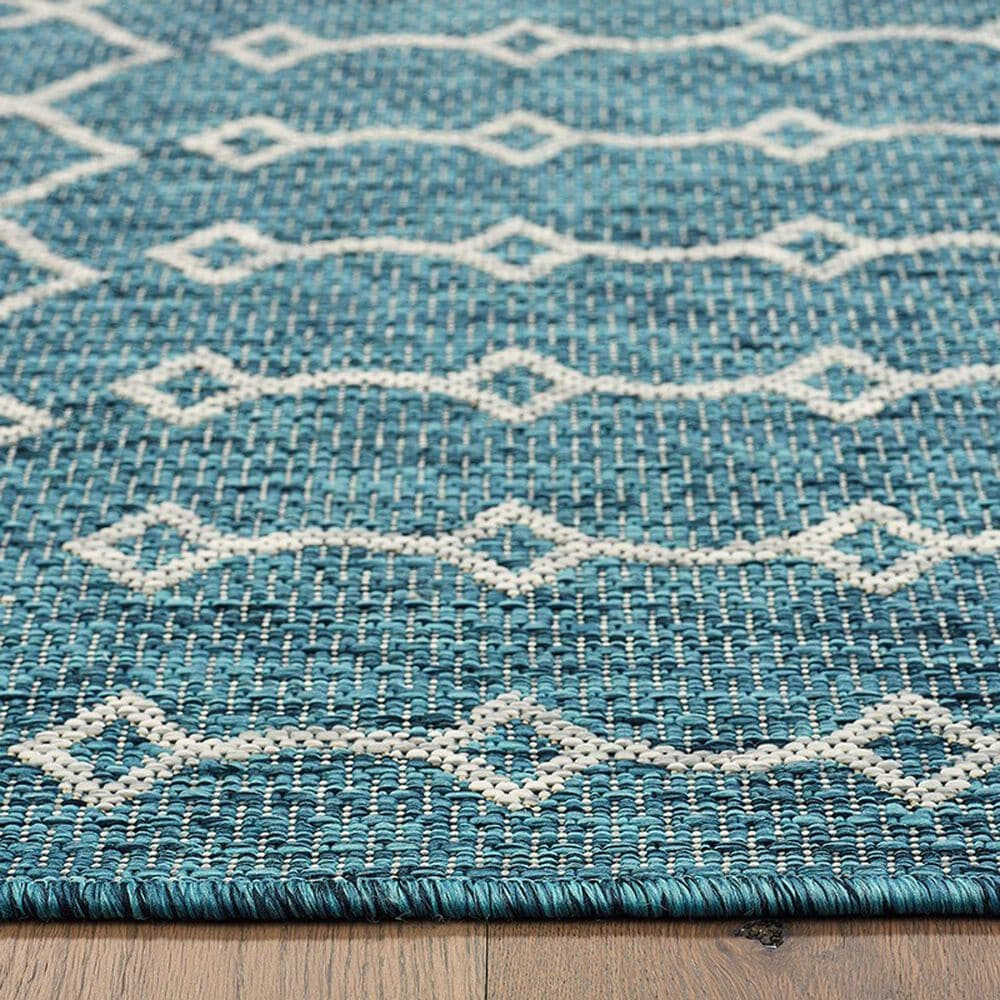 L&R Resources Sun Shower 3' x 5' Blue and Gray Indoor/Outdoor Area Rug, , large