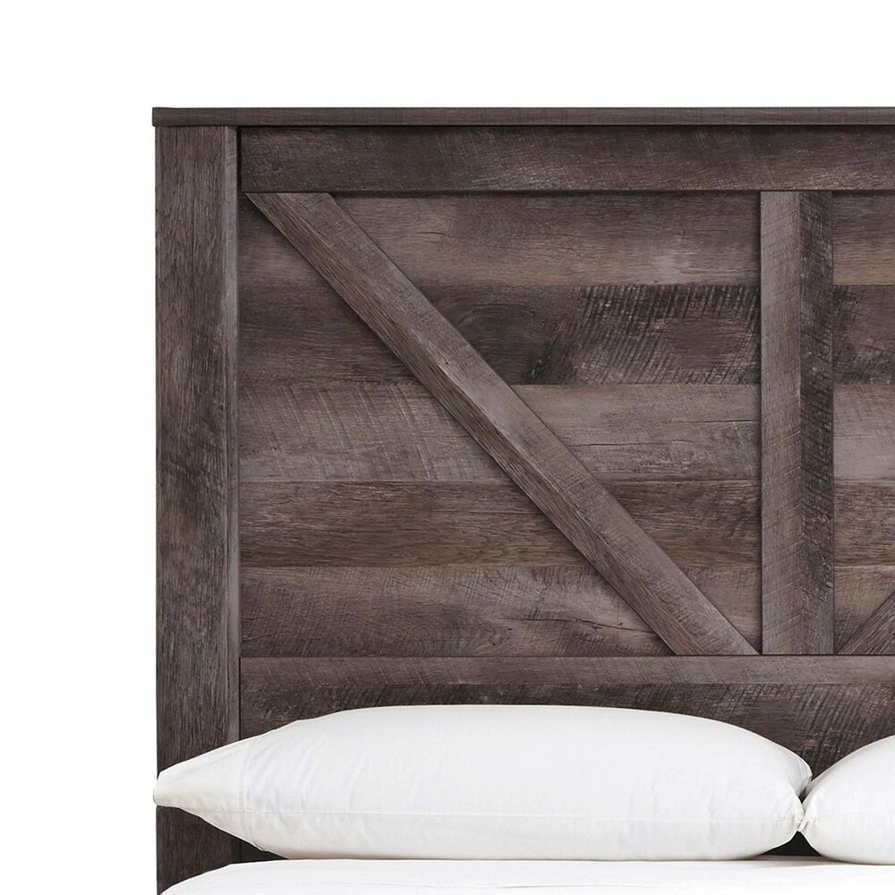 Signature Design by Ashley Wynnlow Queen Panel Bed in Gray, , large