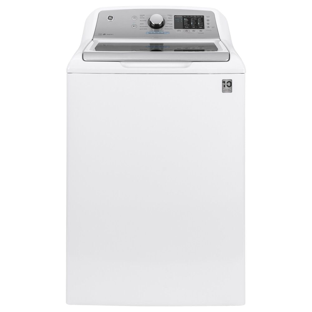 GE Appliances 4.6 Cu. Ft. Top Load Washer and 7.4 Cu. Ft. Gas Dryer Laundry Pair in White, , large