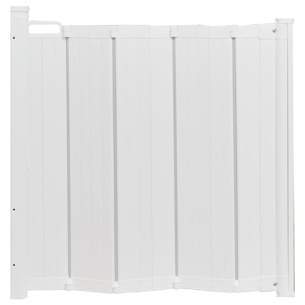 """LA Baby BabyDan 22"""" - 36"""" Retractable Safety Gate in White, , large"""