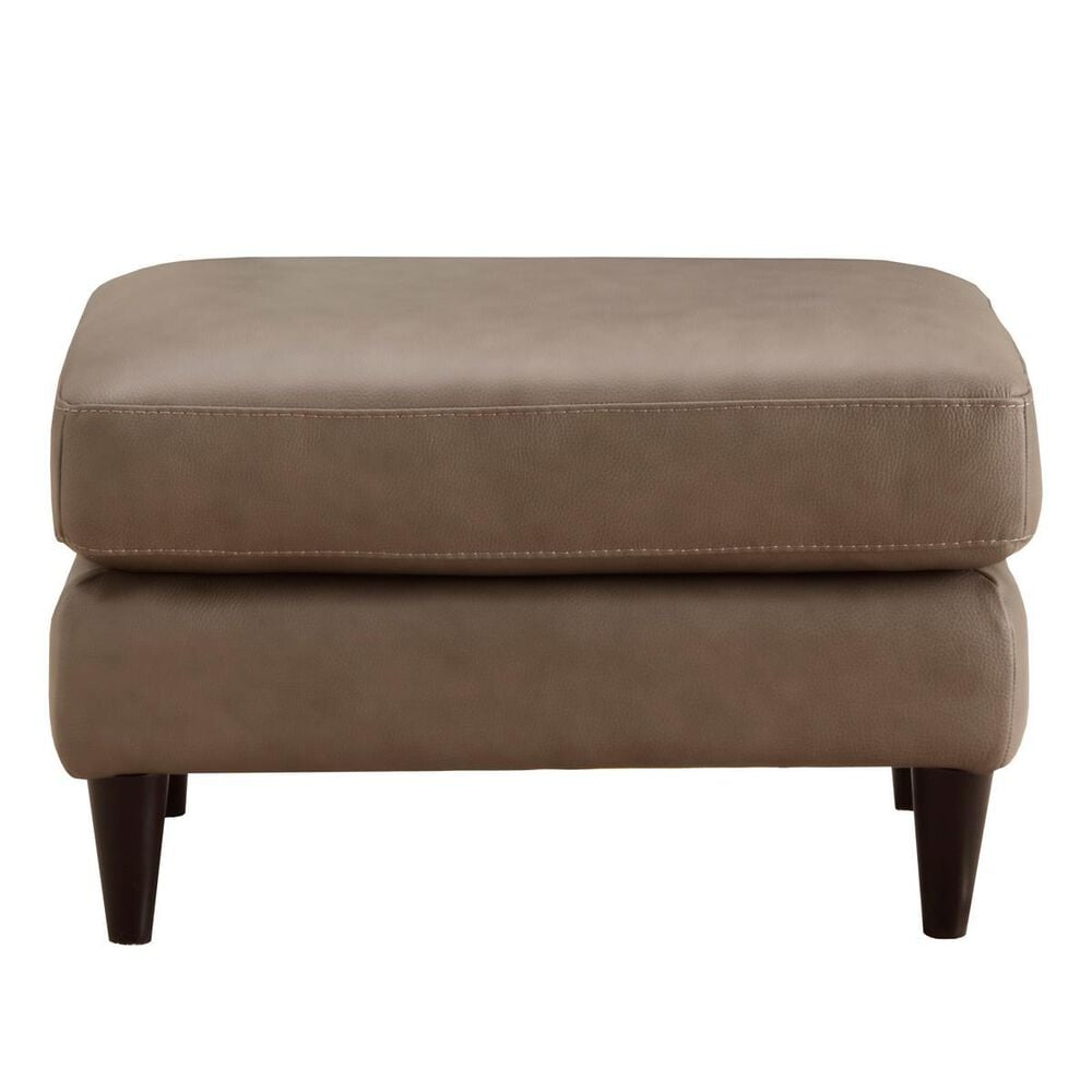 Chateau D'ax Ottoman in Taupe Leather, , large