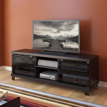 """CorLiving Holland 59"""" TV Bench in Midnight Black, , large"""