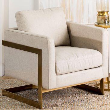 Mercana Rupert Club Chair in Cream, , large