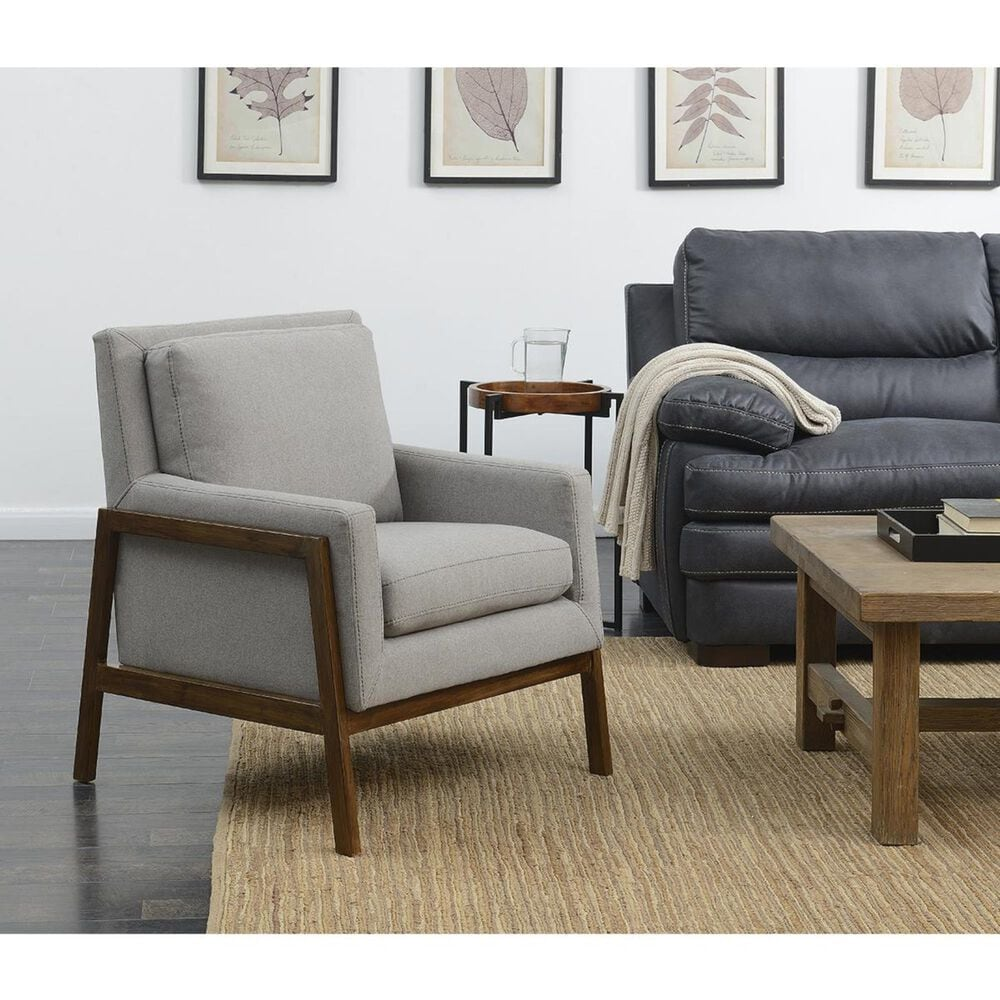 Accentric Approach Urban Eclectic Accent Chair in Heather Grey, , large