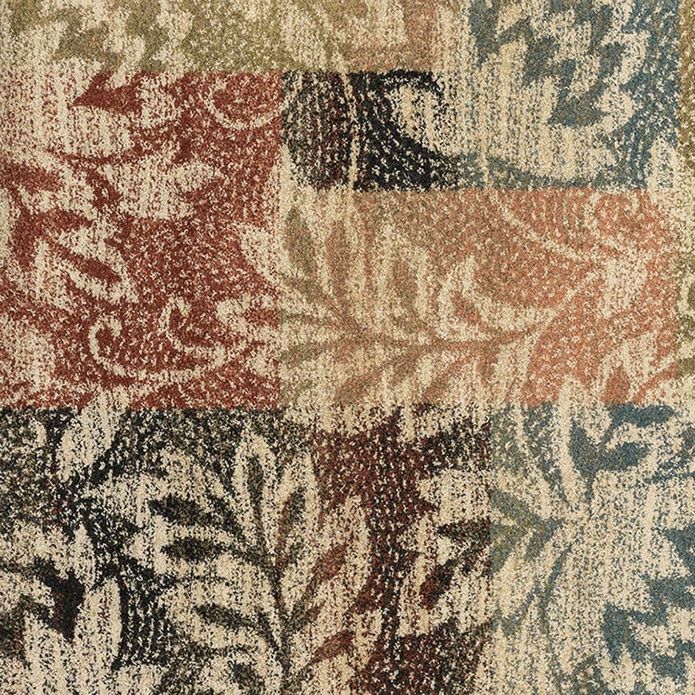 "Oriental Weavers Kendall Botanical 561X1 9'10"" x 12'10"" Ivory Area Rug, , large"