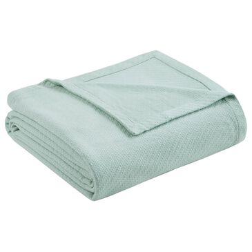 Hampton Park Liquid Cotton Full/Queen Blanket in Seafoam, , large