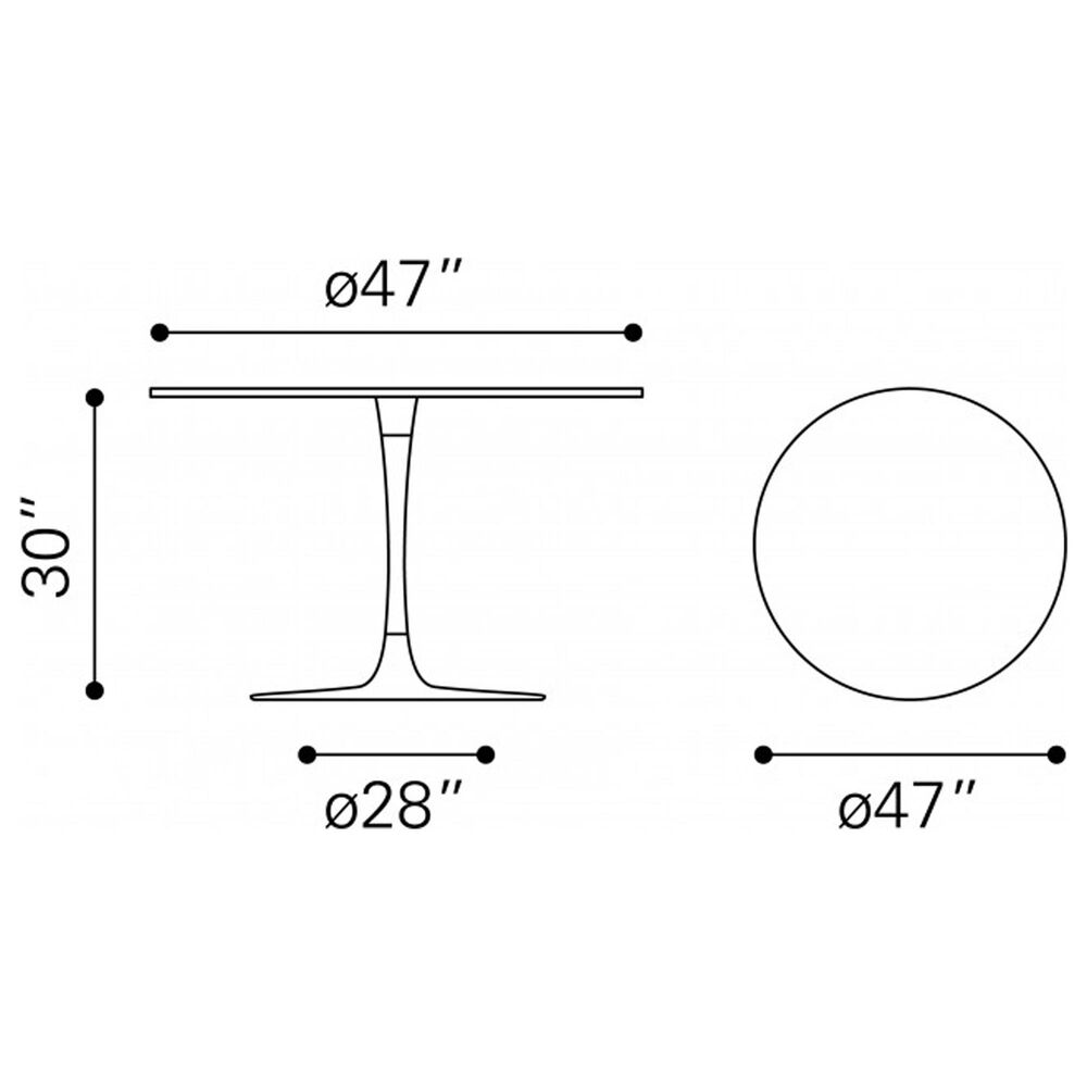 Zuo Modern Seattle Dining Table in Black, , large
