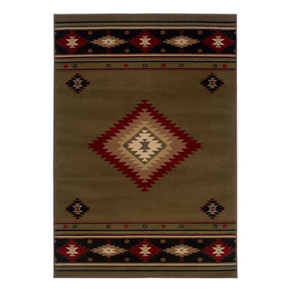 """Oriental Weavers Hudson 87J 6""""7"""" x 9""""6"""" Brown Area Rug, , large"""
