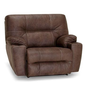 Moore Furniture Titus Cuddler Recliner in Mineral Brown, , large
