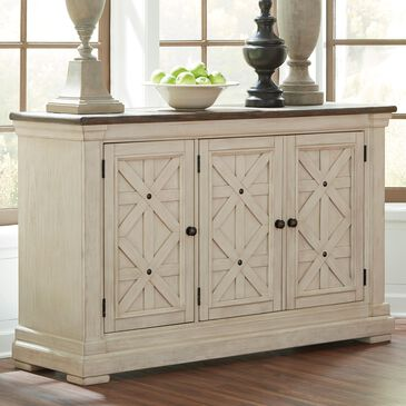 Signature Design by Ashley Bolanburg Server in Antique White and Weathered Oak, , large