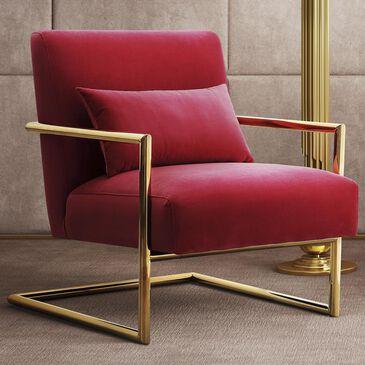 Tov Furniture Elle Velvet Chair in Pink, , large