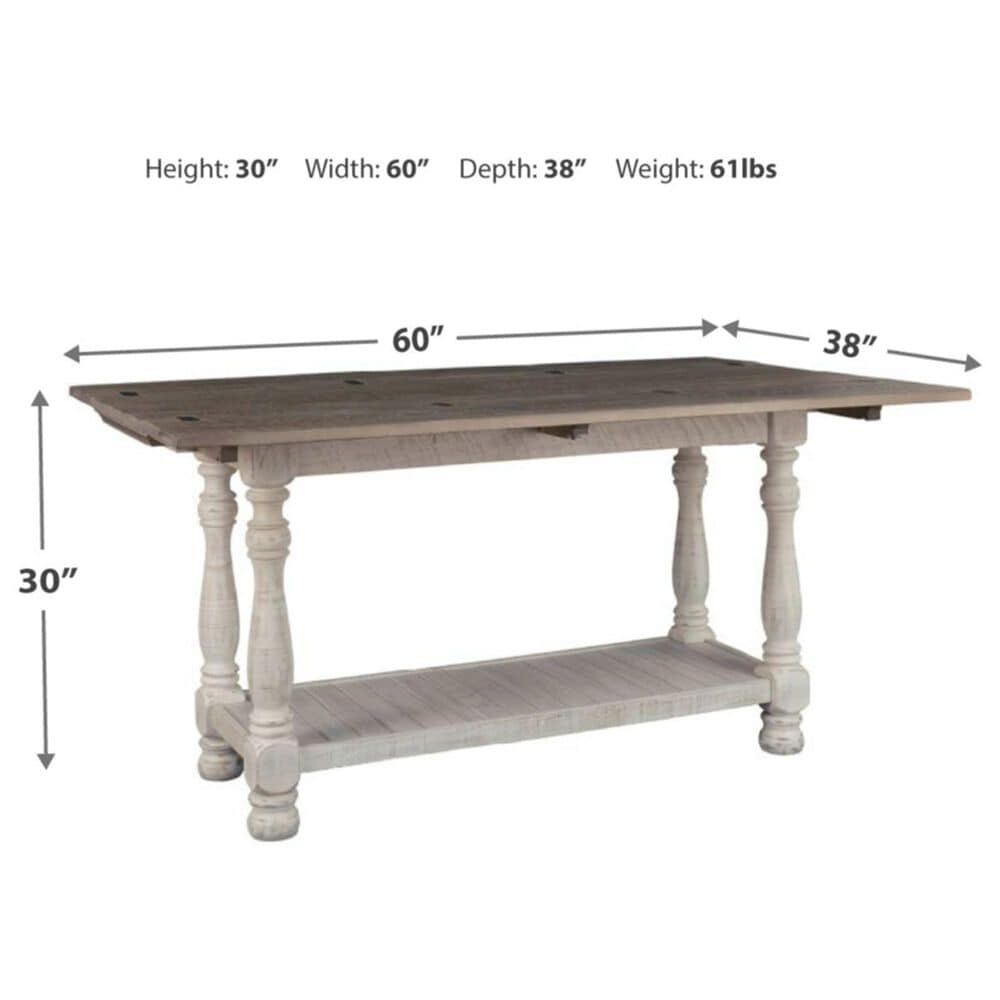 Signature Design by Ashley Havalance Flip-Top Sofa Table in Weathered Gray and Vintage White, , large