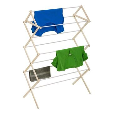 Honey Can Do Large Knockdown Drying Rack Wood in White and Natural, , large