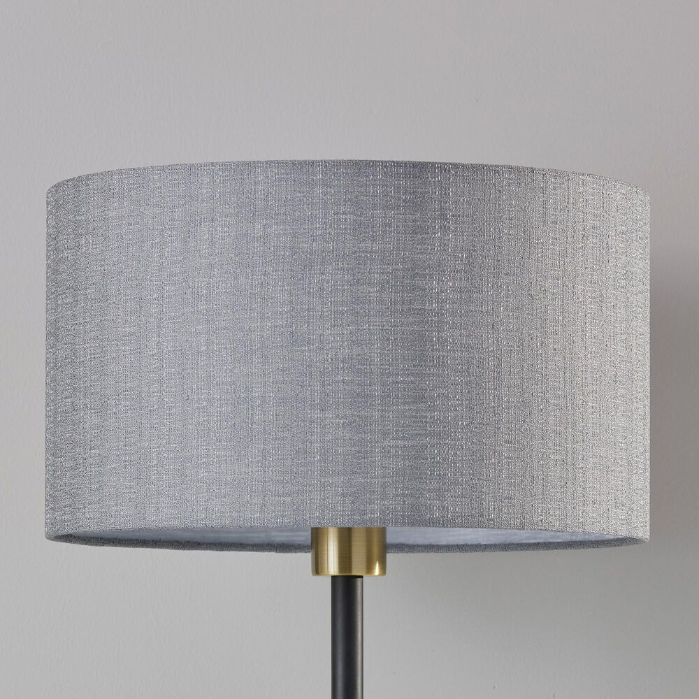 Adesso Bergen Table Lamp in Black and Antique Brass, , large