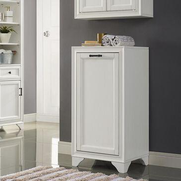 Crosley Furniture Tara Linen Hamper in White, , large