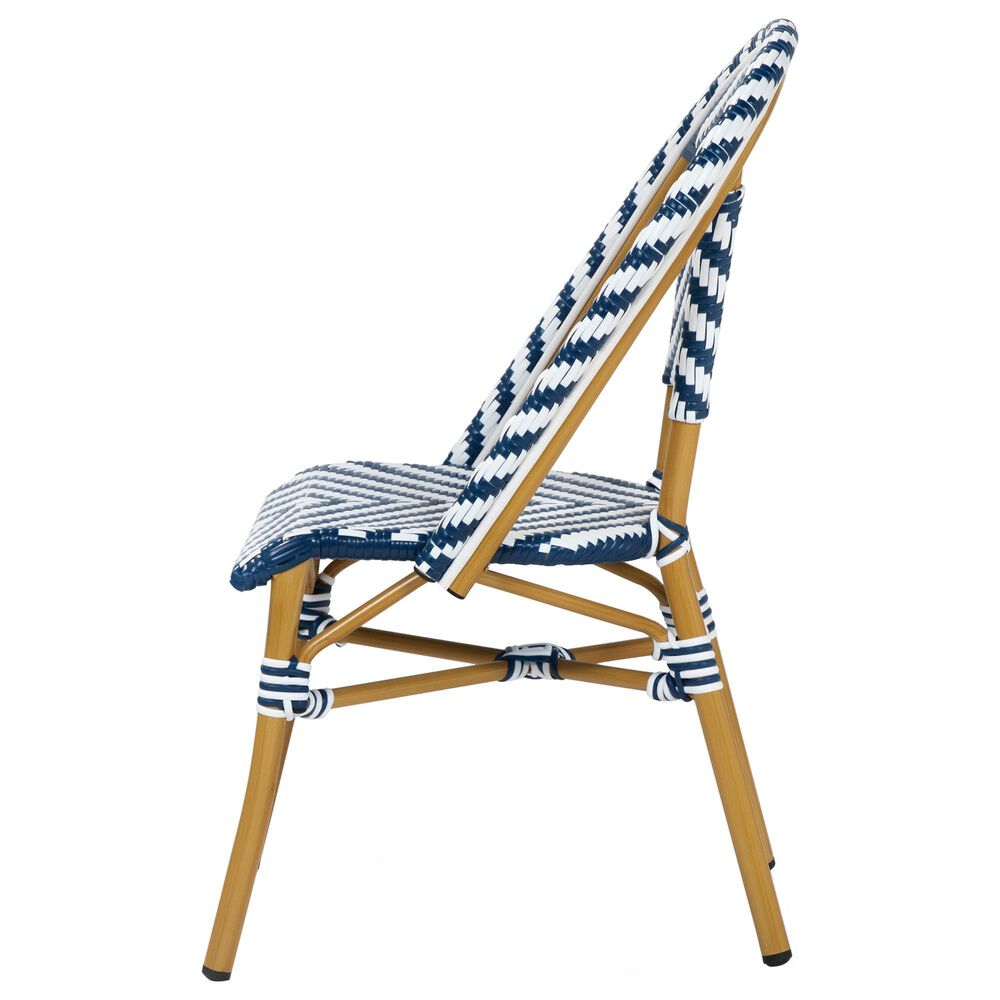 Furniture of America Lam Patio Dining Chair in Blue/White, , large
