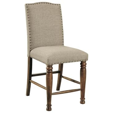 Signature Design by Ashley Lettner Upholstered Counter Stool in Brown, , large