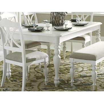 Belle Furnishings Summer House Rectangular Table in Oyster White - Table Only, , large