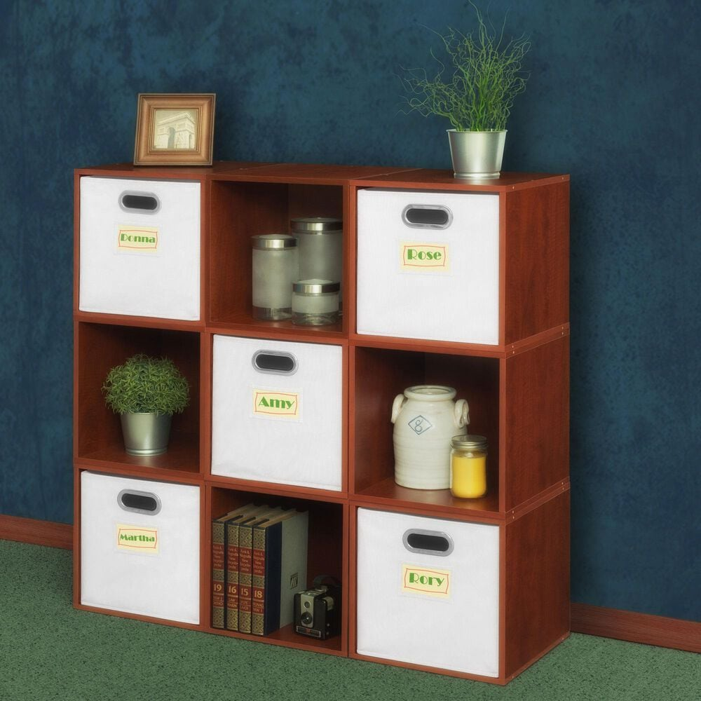 Regency Global Sourcing Niche Cubo 14-Piece Storage Set in Cherry and White, , large