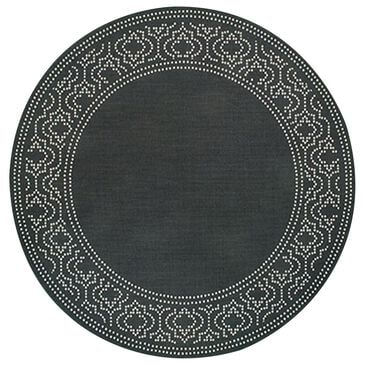 "Oriental Weavers Marina 7'10"" Round Black and Ivory Area Rug, , large"